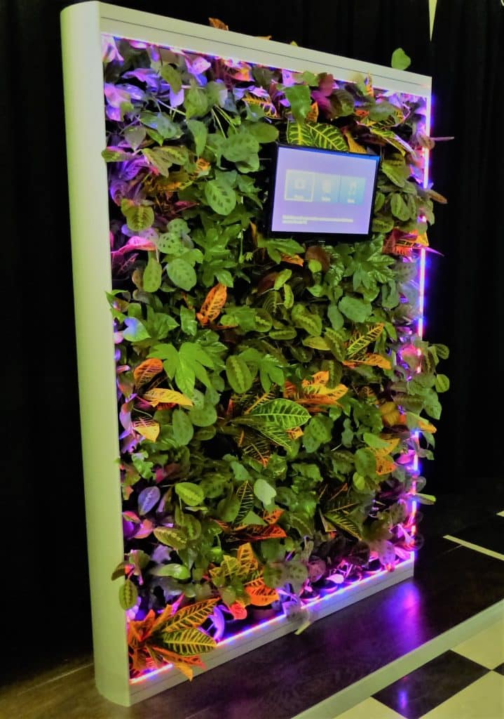 slim and freestanding vertical plant wall