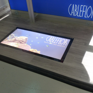 illuminated floor graphic
