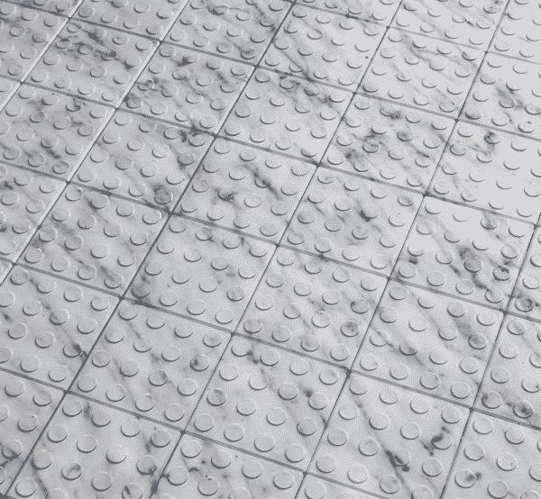 marble effect printed display floor